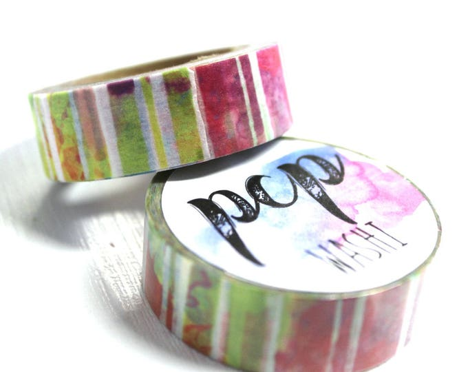 Washi Tape - Watercolor Washi Tape - Tropical Washi Tape - Paper Tape - Planner Washi Tape - Washi - Decorative Tape - Deco Paper Tape