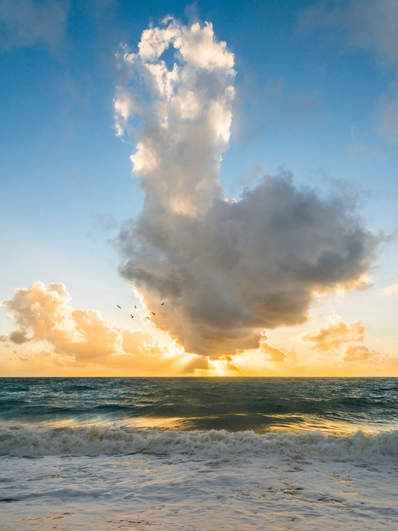 ZAHORA SUNSET. Seascape Print, Sunset Picture, Spanish Sunset, Cloudscape Print, Photographic Print