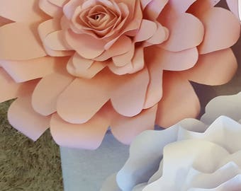 Paper Flower Template PDF digital  file #6 with mini rose template and tutorial