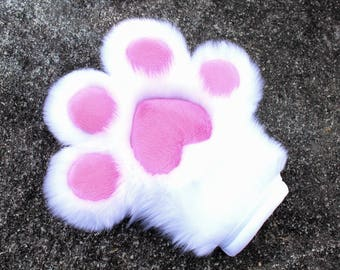 Fluffy Furry Any Color Fursuit Handpaws Cute and Toony Minky Squishy Paw Pads With Optional Claws