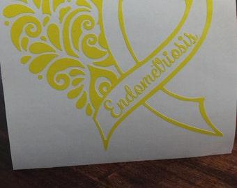 Endometriosis Awareness Decal