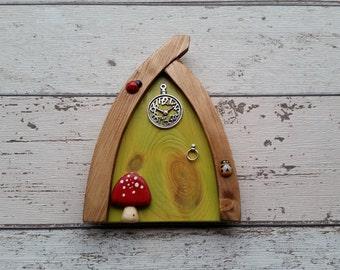 Outside/Indoor garden Fairy Door Elf Door Sunny Lime Range Beautiful Handmade