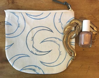 Zipper Pouch with Moon Stamp