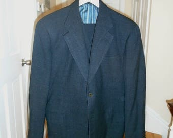 SALE 1950's Does 1930's Bespoke Three Piece Suit FREE SHIPPING