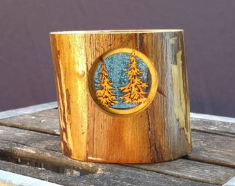 Pine Tree Aspen Candle Holder