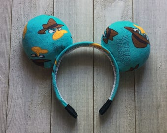 Perry the Platypus Mickey Ears