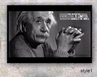 Imagination- Albert Einstein Quote Poster