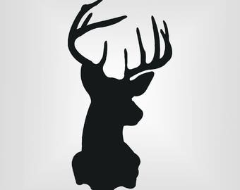 Buck Head Svg, Deer, Cutout, Vector art, Cricut, Silhouette Cameo, die cut, instant download, Digital Cut, Print Files, Ai, Pdf, Svg, Dxf