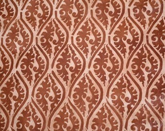 Brown Printed Leather Hide  60 cm  x 60cm 0.6-0.8mm Italian Leather Hide Geometric Tribal Pattern Flower Pattern Leather Hide  b674