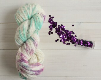 Maleficent: Disney themed hand dyed lace weight yarn, 100g linen/silk/merino wool