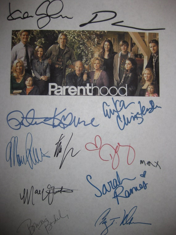 Parenthood Signed TV Pilot Script Screenplay X12 Autograph Lauren Graham Dax Shepard Craig T. Nelson Peter Krause Erika Christensen Ramos