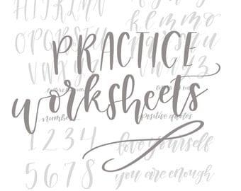 Instant Download Practice Lettering Worksheet