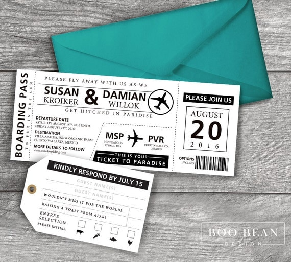 Like This Item?  Airline Ticket Invitation