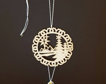 Chandelier Wood Ornaments