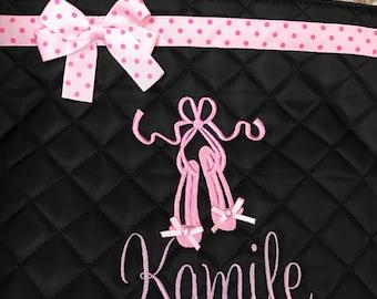 Personalized Ballet Bag-Gymnastics Quilted Ballet Bag-Tote Bag-Ballet Bag-Dance Class Bag-Cheerleading Bag-Gift for Girls