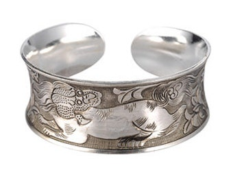 Silver Tone, Antique Effect Indian style Bangles
