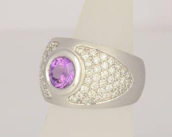 Ring • Sapphire • brilliant • white gold