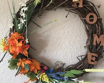 Spring Home Wreath