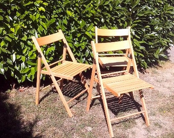 Discount 3 Garden vintage chairs wooden chairs