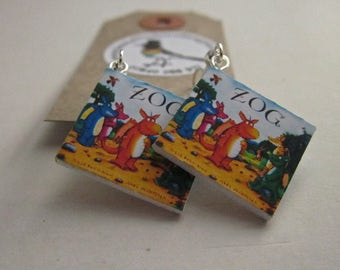 "Zog  Book Earrings from ""The Earring Library"""