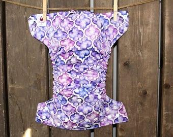 Layer washable purple mosaic