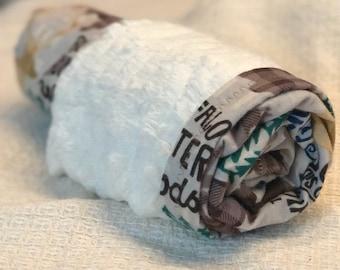 Woodland Minky Baby Blanket- The Snuggler