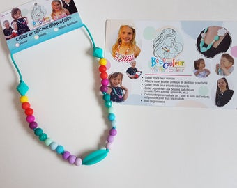 Necklace for daughter food silicone