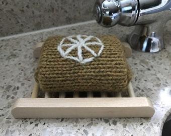 Organic Knitted Felting Orange, Soap Gift, Vegan Gift,  Natural Soap, Hostess Gift, Felted Soap, Birthday Gift, Teacher Gift
