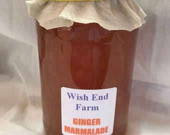 Ginger Marmalade Homemade 450g (1LB) Jar, Food Gift, Birthday Gift, Teacher Gift, Christmas Gift, Breakfast Marmalade, Seville Orange