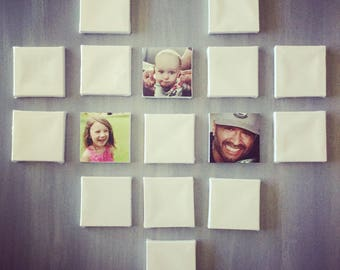 Custom Small Heart Wall Decor | Square Photo Arrangement | Modern Wall Decor | Graduation Gifts | Family Photos