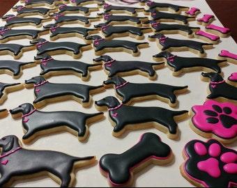 Dachshund Sugar Cookies