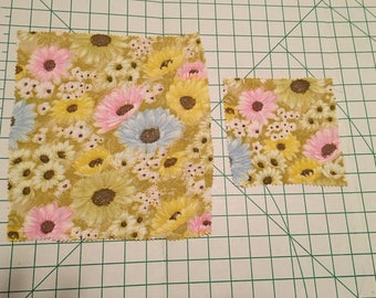 Soft Spring Floral Beeswax Cloth