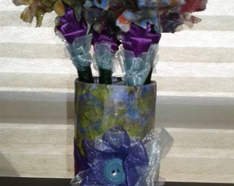 PurpleFlowers/ArtificialFlowers/FakeFlowers/FlowerBouquet/Gift dea/Valentine/PurpleFlowerPenBouquet/Gift Idea/School/Office/Hom