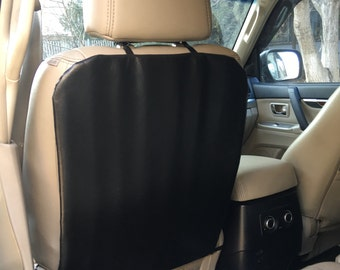 Kick mats: set of 2. Car seats back covers, Dirty shoes protection, Car Seat Back Protector. Ecological leather.