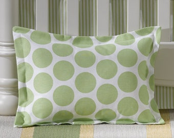 Kiwi Dot Baby Pillow Sham