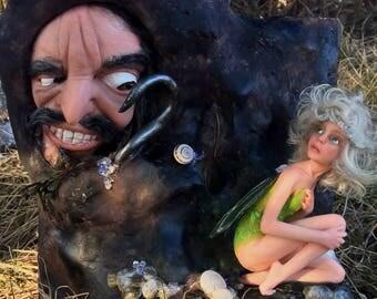 Believe in fairy carved hand OOAK Doll by Bibs Lovelypam