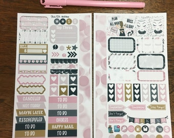 Planner Girl MM Stickers Louis Vuitton Mambi Inkwell Press Filofax Kikki K Happy Life Planner LV pink glitter