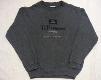 Vintage U.P RENOMA Homme Extra Comfort Embroidered Logo Spellout Sweatshirts