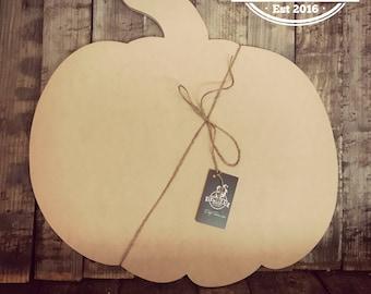 Pumpkin, Unfinished, Ready to Paint, Custom, DIY, Blank, Door Hanger, Halloween, Fall, Decor, Wood, Cut Out, DT2037