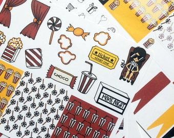 Movie night | Weekly kit | Stickers