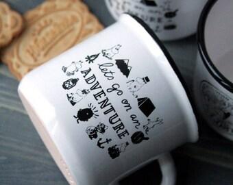 """Handmade Pottery Pseudo-Enamel Moomin Cup """"Snufkin"""""""