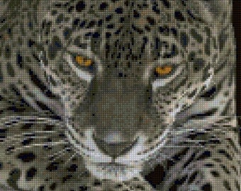 Leopard Cross Stitch pattern - PDF - Instant Download!