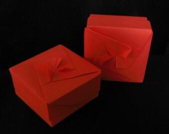 Bright Salmon Origami Box