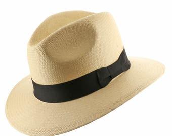 New FEDORA SAFARI Panama Hat Natural Straw