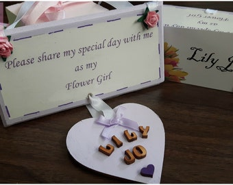 "Personaised "" Will you be my flower girl/bridesmaid plaque"
