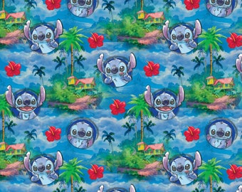 Disney Lilo And Stitch Hawaiian Nights Fabric