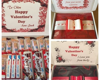 Personalised chocolate kinder gift box...Mothers Day, Birthday, Thank you