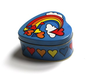 Vintage Heart Shaped Strawberry Candle Tin