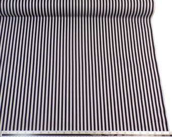 Black White Stripe 100% Cotton High Quality Fabric Material *2 Sizes*