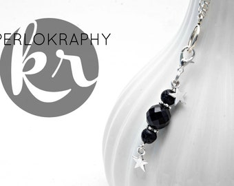 Long necklace with Black Star charm/pendant